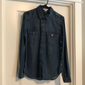 NWT Paige soft denim shirt